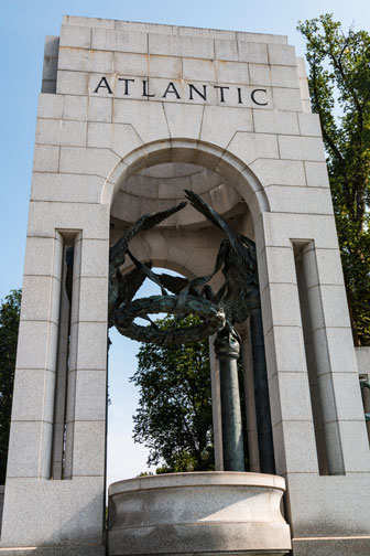 Atlantic Triumphal Arch at the World War Two Memorial in Washington, DC