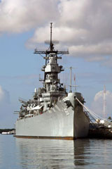 Battleship Missouri memorial at Pearl Harbor, Hawaii
