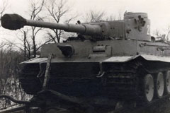 German tank heading for the Eastern Front during WWII