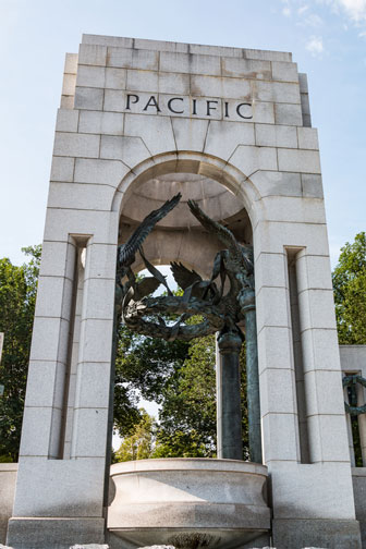 Pacific Triumphal Arch at the World War Two Memorial in Washington, DC
