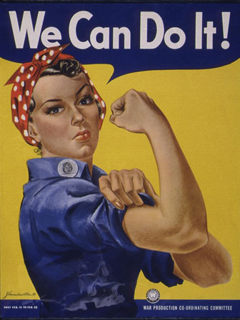 World War Two Poster - We Can Do It