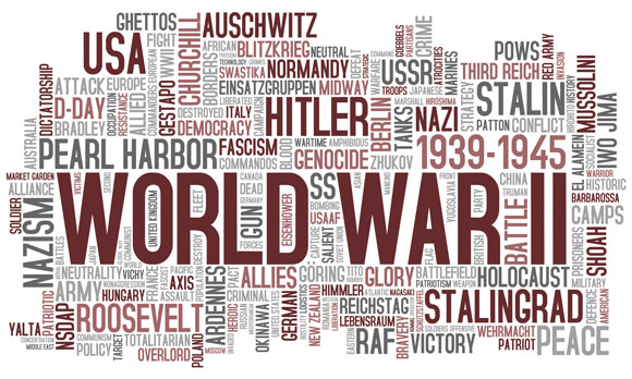 world war two word cloud